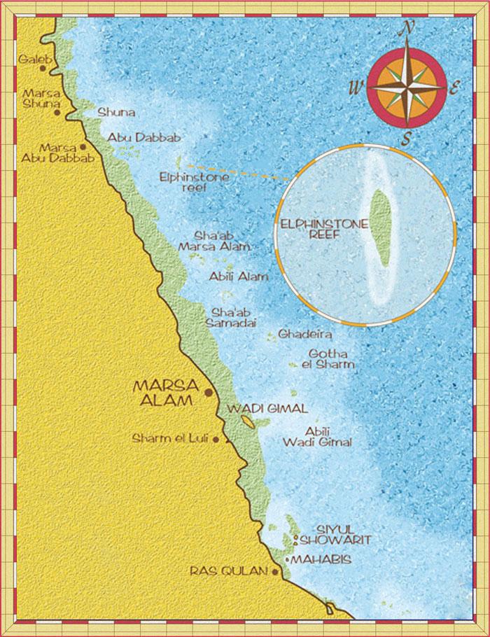 Diving World Marsa Alam Map Marsa Alam - Map of egypt marsa alam